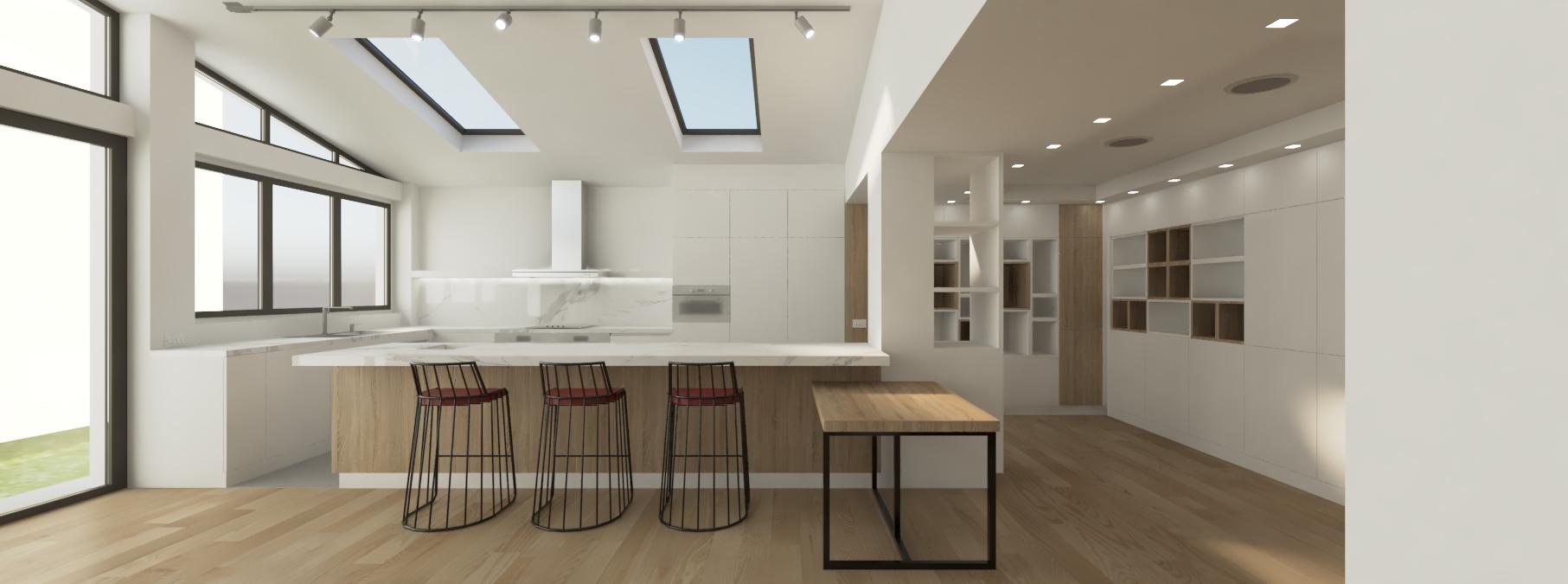 cucina con materiali ipotesi 1